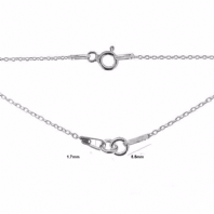 Sterling Silver Trace Chain Necklace 16 inch